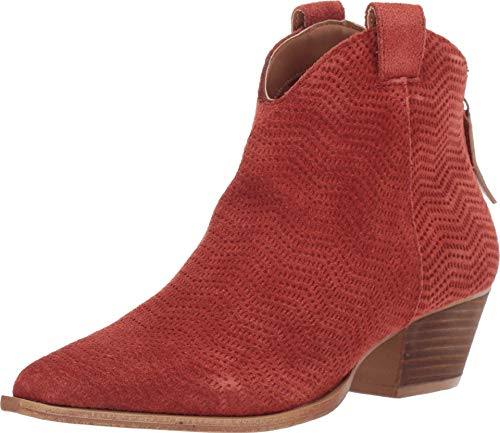 """Dingo Womens Kuster Pointed Toe Boots Ankle Mid Heel 2-3"""" - Orange - Size 7.5 B"""