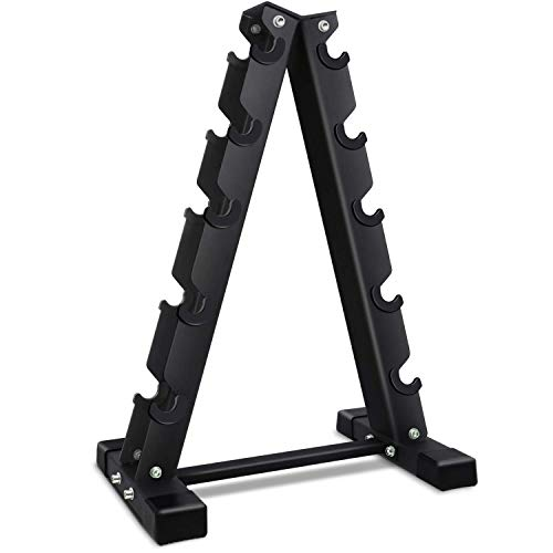 Akyen A-Frame Dumbbell Rack Stand Only-5 Tier Weight Rack for Dumbbells (570 Pounds Weight Capacity, 2020 Version) 8