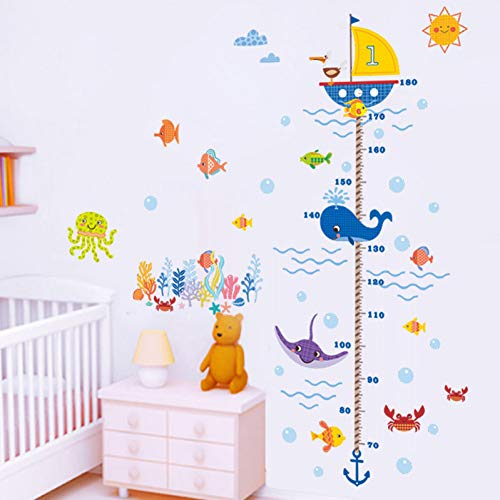 TAOYUE mesure de la croissance graphique de la croissance sticker mural enfants bébé chambre d'enfant chambre décor autocollant