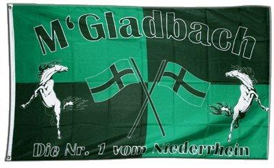 Flaggenfritze Fahne/Flagge Mönchengladbach + gratis Sticker