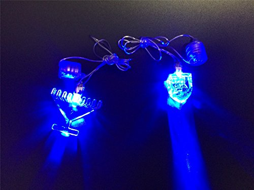 Fantastic Prices! JewishInnovations.com 25 Glow in The Dark LED Necklace - Dreidel Menorah Mix