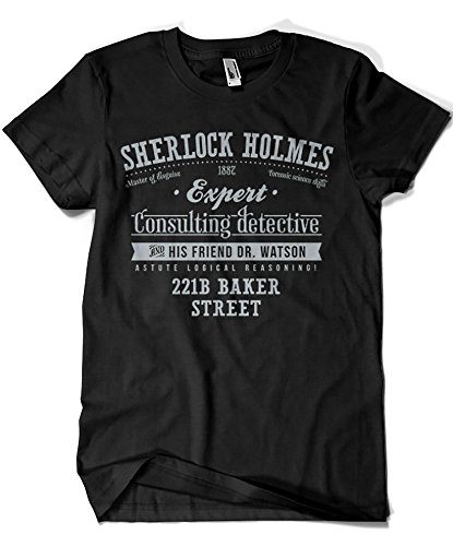 1415-Camiseta Sherlock Holmes (Azafran)
