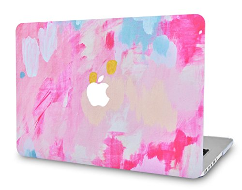LuvCaseLaptopCaseforMacBookAir 13 Inch A1466 / A1369 (No Touch ID)RubberizedPlasticHardShellCover (Pink Mist 2)