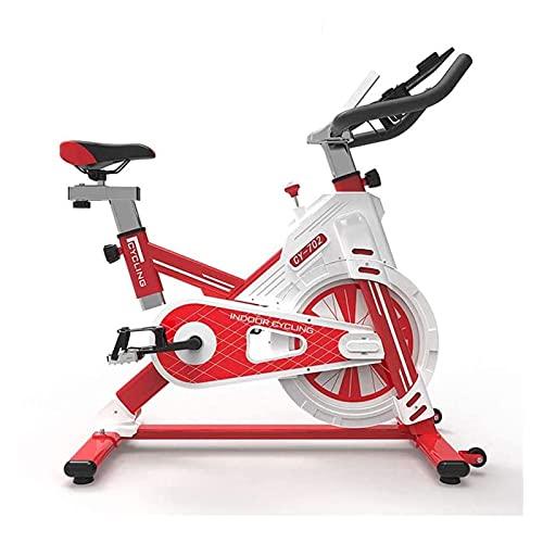 WJFXJQ Indoor Silent Ejercicio Bicicleta Ciclismo Ejercicio Equipo Fitness Flywheel Diseño Envolvente Completo con Monitor y Tenedor de iPad del teléfono Grande