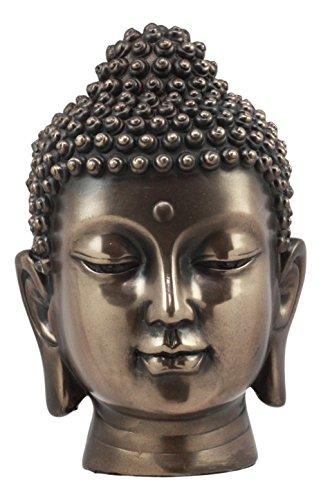 Ebros Shakyamuni Buddha Gautama Ushnisha Head Statue 6.5' Tall Amitabha Celestial Buddhism Bodhisattva Figurine Feng Shui Zen Altar Decoration (Polished Bronze Patina)