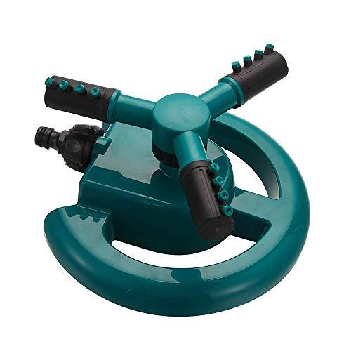 Nologo Garten Sprinkler, automatische 360, 3 Arme Adjustable Garten Wasser Rasen-Sprenger for Garten Rasen Bewässerung DAGUAI