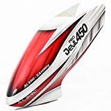 GoGoRc ALZRC Devil Fiber Glass Canopy Red for Trex 450 Pro RC Helicopter