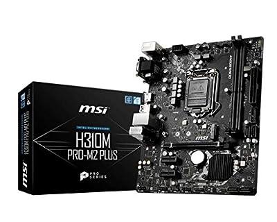 MSI ProSeries Intel Coffee Lake H310 LGA 1151 DDR4 D-Sub DVI HDMI Onboard Graphics Micro ATX Motherboard (H310M PRO-M2 Plus)