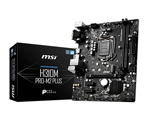 MSI ProSeries Intel Coffee Lake H310 LGA 1151 DDR4 D-Sub DVI HDMI Onboard Graphics Micro ATX Motherboard (H310M PRO-M2 Plus)