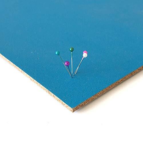 Corcho pared autoadhesivo de colores. Rollo de corcho adhesivo de 300 x 49 cm. Tablón de anuncios. Pizarra de corcho para fotos, notas, recordatorios. Tablero lámina de corcho. (Azul claro o turquesa)