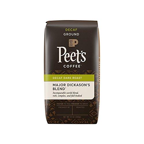 Peet's Coffee Decaf Major Dickason's Blend Dark Roast Ground Coffee, 12 oz