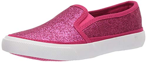 Amazon Essentials Kids' Slip-On Canvas Sneaker, Fuschia, 2 Medium US Big Kid