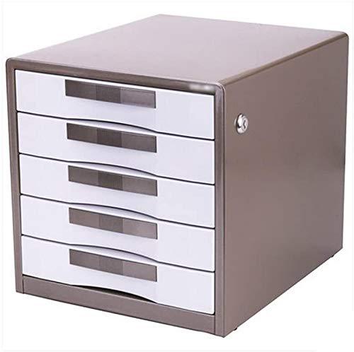 Organizador para el Escritorio Cajón de fichero Tipo de Metal Almacenamiento de Oficina Escritorio Caja A4 múltiples Capas de Datos del gabinete con la Cerradura del gabinete.