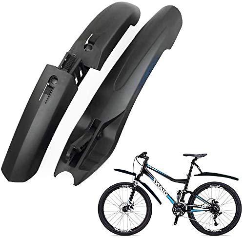 WeyTy Fahrrad Schutzbleche Set, Fahrrad Spritzschutzset Verstellbares Bike Kotflügel Vorne + Hinten Verbreiterter Schwanz [alle Größen], Spritzschutz Fahrrad für MTB Citybike Mountainbike Trekkingrad