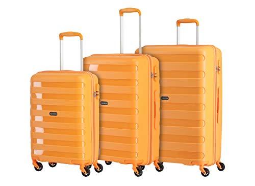 """Travelite Farbenfrohe, lässige Hartschalen-Trolleys der Serie """"Nova"""" machen jede Reise zum bunten Abenteuer Koffer-Set, 75 cm, Orange"""
