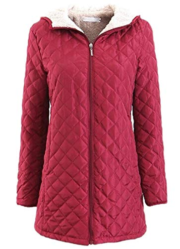 Biooarc Womens Warm Fleece Coat Hoodie Parka Overcoat Outwear Jacket