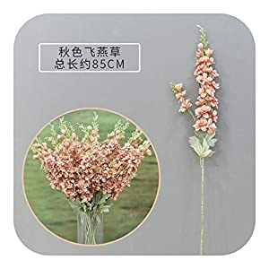 MEIshop 5Pcs 2 Fork Large Delphinium Artificial Flower Home Decoration Wedding Wall Material Silk Fake Flowers Decorative Wreath