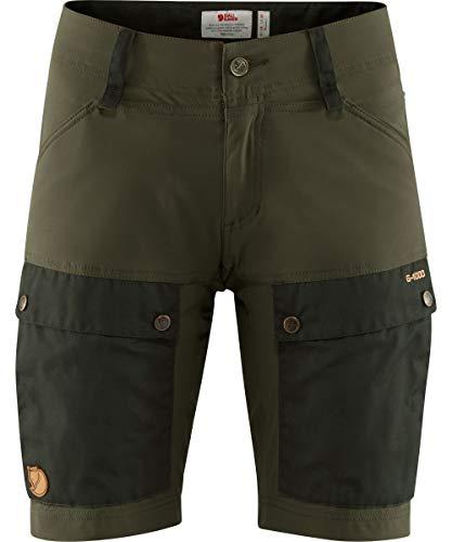 FJALLRAVEN Damen Keb Shorts W Kurze Hose, Grün (deep Forest/Laurel Green), 34