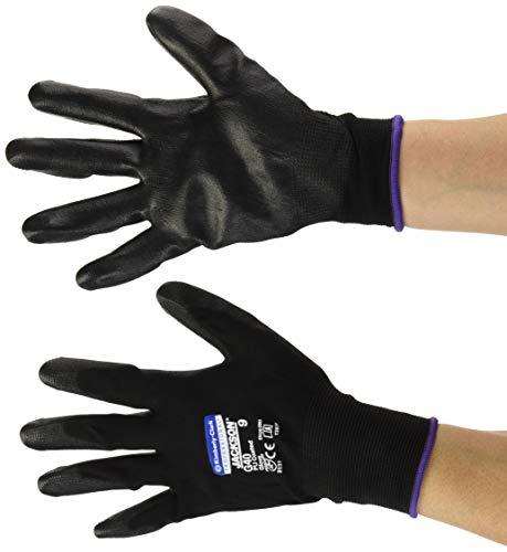 Kimberly Clark 13839 Jackson Safety G40 Polyurethanbeschichtete Handschuhe, Handspezifische Paare, Schwarz (60-er pack)