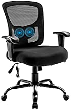 Big and Tall Office Chair 400lbs, Bigroof Ergonomic Mesh Desk Computer Chair with Adjustable Lumbar Support Arms High Back Wide Seat Task Executive Rolling Swivel Chair for Women Men, Heavy People