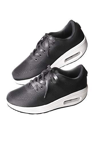 [ADVENTURE] Thick Sole Sneakers, Diet Shoes, Walking Shoes, Women's Nurse Shoes - black