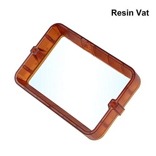 Aibecy Resin Vat, Plastic Material Rack Resin 178 * 120mm Resin Vat Light Curing 3D Printer Parts FEP Film Resin Tank Compatible with Wanhao D8 D7 UV Resin DLP SLA 3D Printer