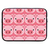 Laptop Sleeve Compatible with 13 inch MacBook Air/MacBook Pro/Surface Book, Pig Face Vintage Computer Protective Case Pouch Shockproof Notebook Bag Cover