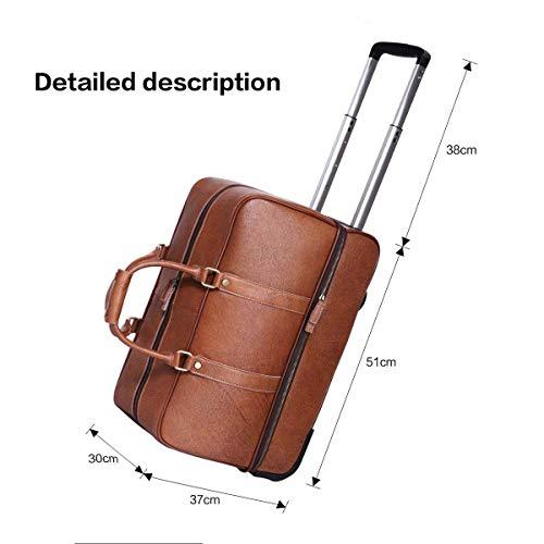 Leathario Reisetasche aus Rindsleder – Trolley - 2