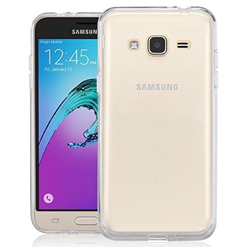 NEW'C Funda para Samsung Galaxy J3, Anti- Choques y Anti- Arañazos, Silicona TPU, HD Clara