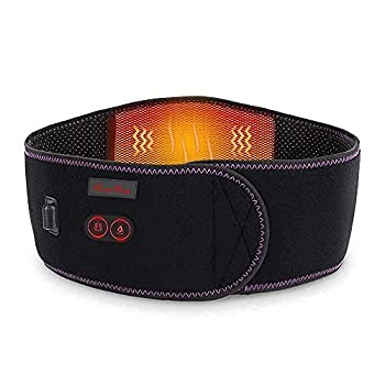 Heating Pad for Back Pain Massage - 7.4V Battery Cordless Heated Back Brace Far Infrared Heat Therapy Massage Heated Waist Belt Wrap - Belly and Back Pain Relief Lumbar Spine Stomach Arthritis