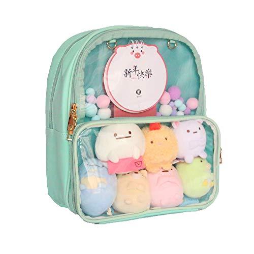 Ita Bag Leather Backpack Transparent Itabags Anime Bag (green)