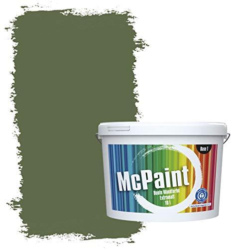 McPaint Bunte Wandfarbe extramatt für Innen Tannengrün 5 Liter - Weitere Grüne Farbtöne Erhältlich - Weitere Größen Verfügbar