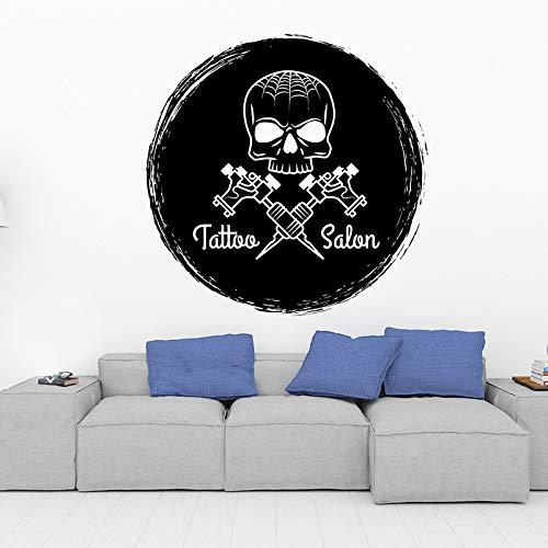 yaofale Tattoo Salon Logo DIY Vinyl wandaufkleber dekor wasserdicht Vinyl Aufkleber für Fenster glastür Kunst Aufkleber PVC tapete 57x57cm
