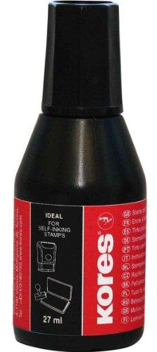 Kores SF71338 Stempelfarbe, Inhalt: 27 ml, schwarz