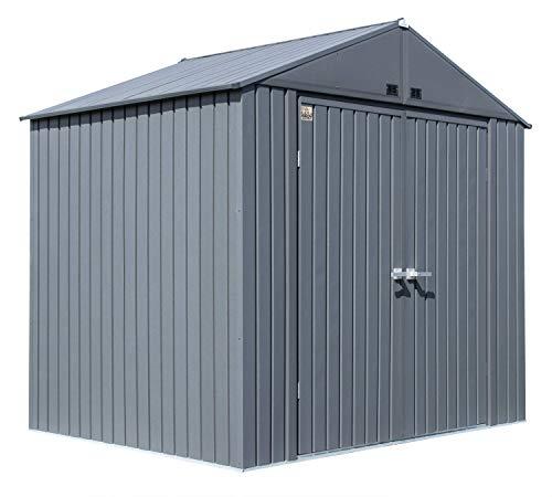 Arrow Metallgerätehaus Elite 82,5 x 1,9 m Gartenhaus Geräteschuppen Unterstand anthrazit matt 253x185 cm