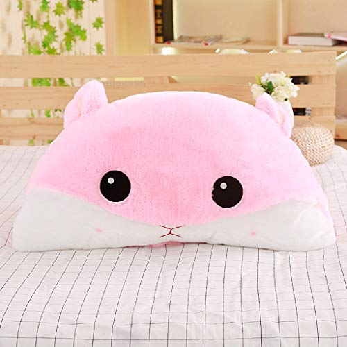 DESTRB Cotton Reading Pillow - Soft Breathable Cover, Perfect Support, Premium Comfort - The Best Bed Rest Reading Pillow of The Year. (Color : Pink)