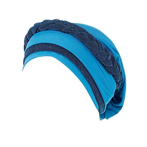 Auiyut Kopftuch Damen Muslim Hut Sommer Hut Elegant Schal Wrap Kappe Beanie MüTze Bonnet Head Wrap Schal Muslim Hijab Klassische Muslim Schlaf Hijia für Krebs Chemo