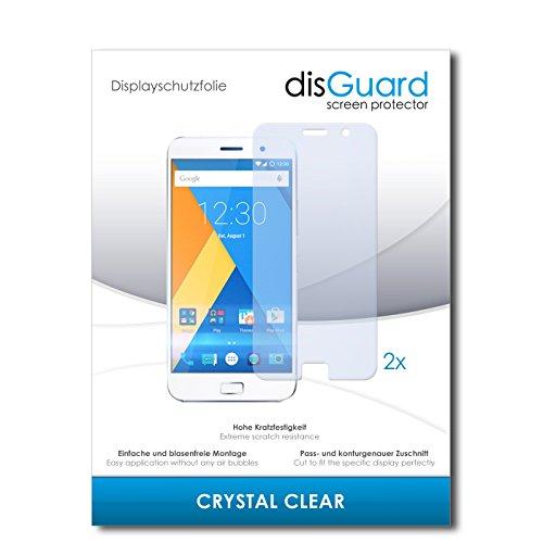 disGuard® Bildschirmschutzfolie [Crystal Clear] kompatibel mit Lenovo Zuk Z1 [2 Stück] Kristallklar, Transparent, Unsichtbar, Extrem Kratzfest, Anti-Fingerabdruck - Panzerglas Folie, Schutzfolie