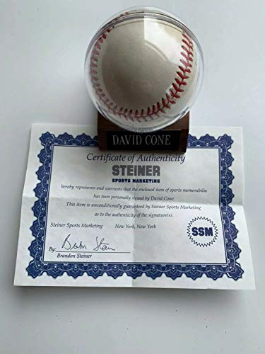 David Cone Autographed Signed Baseball With Steiner Sports COA