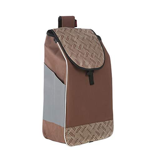 GJ-gwcd Einkaufstrolley Ersatztasche Einkaufswagen Tasche mit Seitentaschen Ersatztasche für Trolley Oxford Tuch wasserdicht Aufbewahrungstasche 36L Shopping