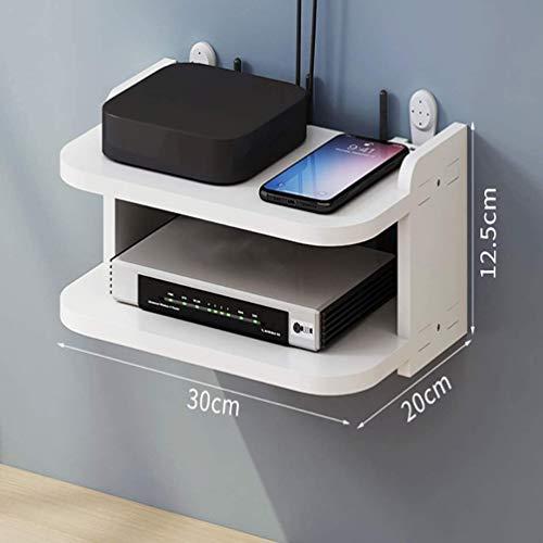 YIZHIQI Estantes de Pared para componentes de TV, Consolas Multimedia montadas en la Pared, Cajas de Almacenamiento para decodificadores de Cable/enrutadores/Controles remotos/Reproductores