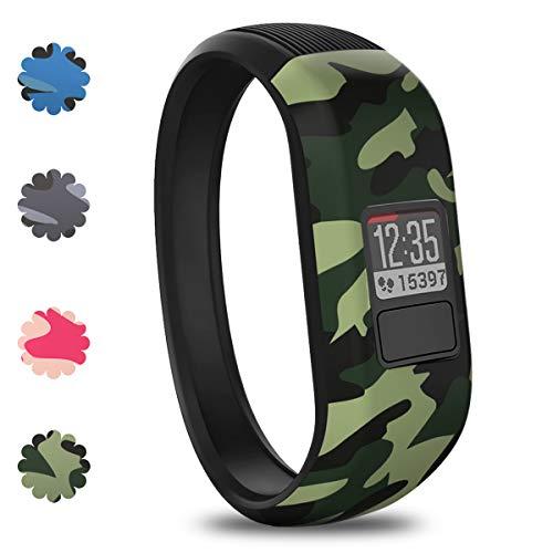 Vozehui Armband kompatibel mit Garmin Vivofit 3 / Vivofit JR / Vivofit JR 2, verstellbare, bunte Ersatz-Sportarmbänder aus weichem Silikon für Kinder, Jungen, Mädchen, Männer, Frauen, klein, groß