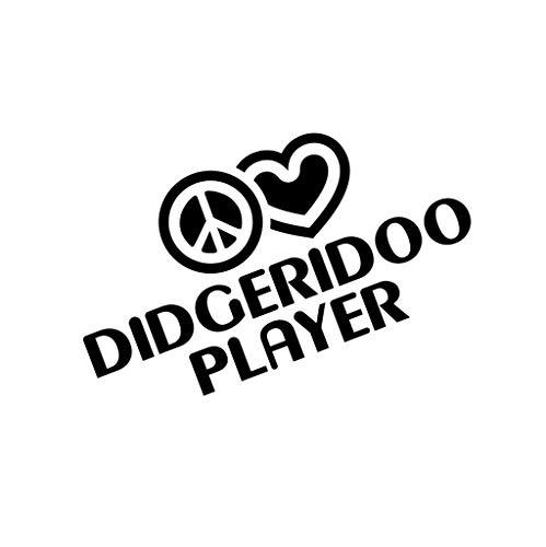 PressFans - Peace Love Didgeridoo Player Music Car Laptop Sticker Decal