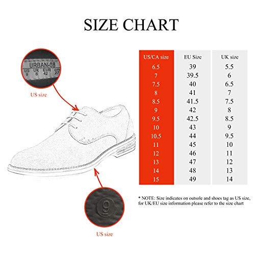 Bruno Marc Men's URBAN-08 Black Suede Leather Lace Up Oxfords Shoes – 11 M US