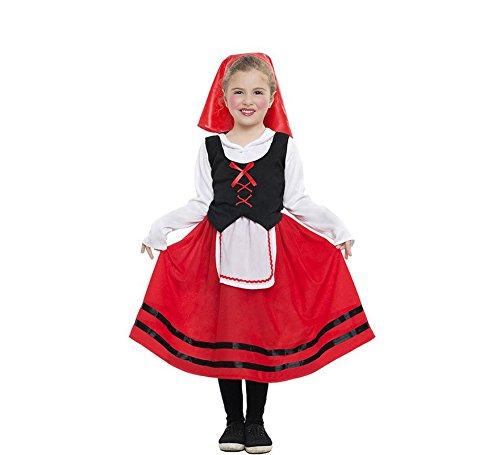Car&Gus Disfraz de Pastorcita con Falda roja para niña