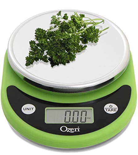 Ozeri Pronto Digital Multifunction Kitchen and Food Scale, Compact, Lime Green