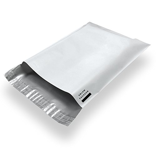 Packzon 100 6x9 Poly Mailers Envelope Shipping Bags with Self Sealing Flap