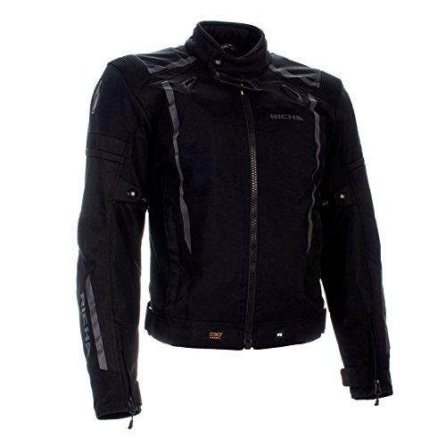 Richa Airwave - Chaqueta de moto 3 en 1, impermeable, transpirable, color negro