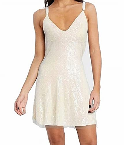 Free People Women's Gold Rush Minidress Icicle Pearl Combo L