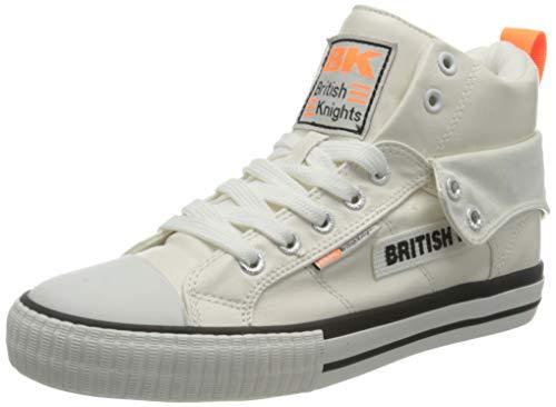 British Knights Roco Tag, Basket Femme, Orange Blanc/Néon, 42 EU